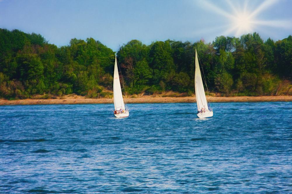 Twin Sailboats Photography Art | Peter J Schnabel Photography LLC