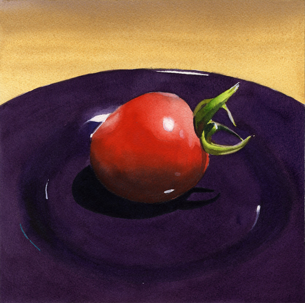 Bold Modern Strawberry Tomato Still-Life Print