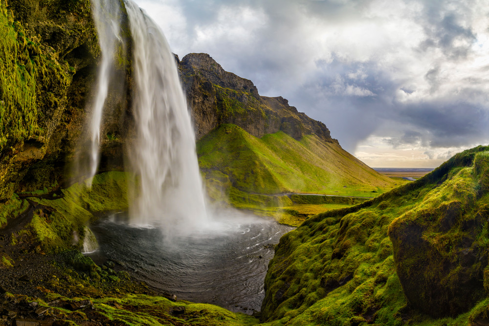 Clearing Skies over Seljalandsfoss in Iceland