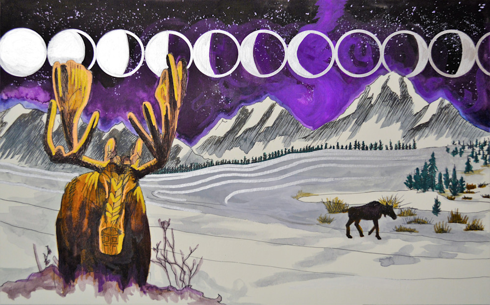 Moonlit Moose Mandala
