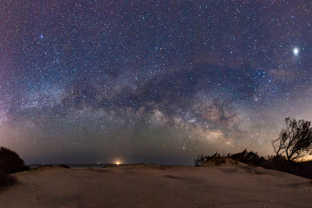 Sand Dunes and Milky Way Pano