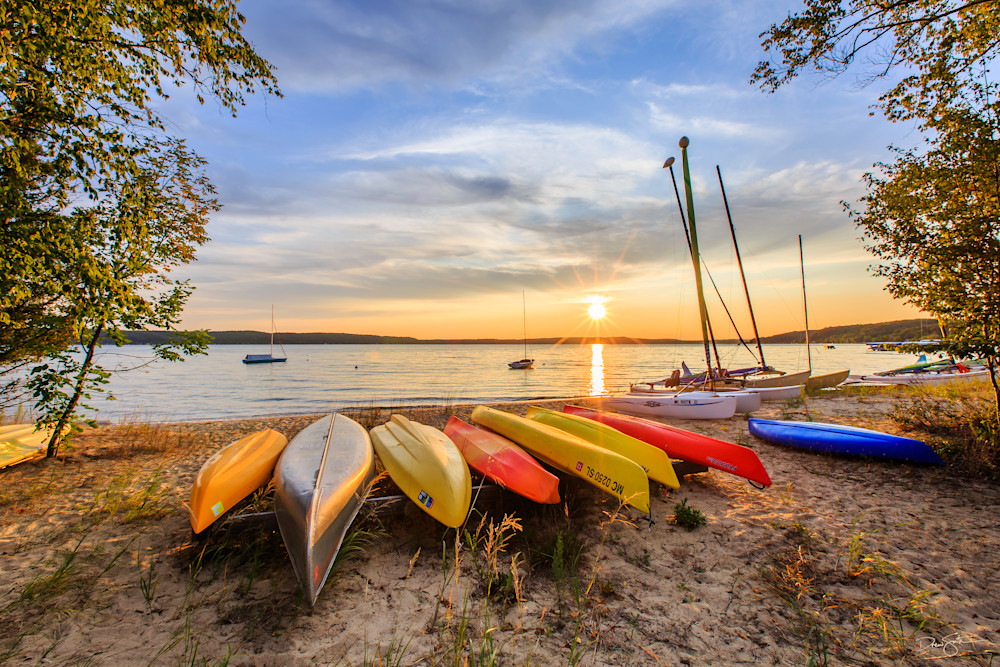 Ready For The Day Ahead   Sunrise At The Csa Beach On Crystal Lake Photography Art | Drew Smith Photography, LLC