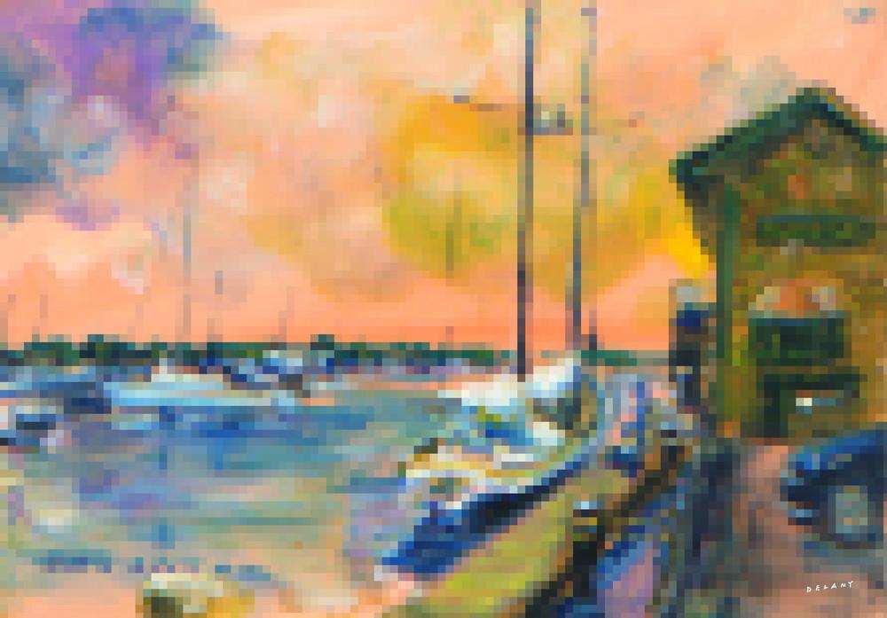 Bowen's Wharf Pixel Print