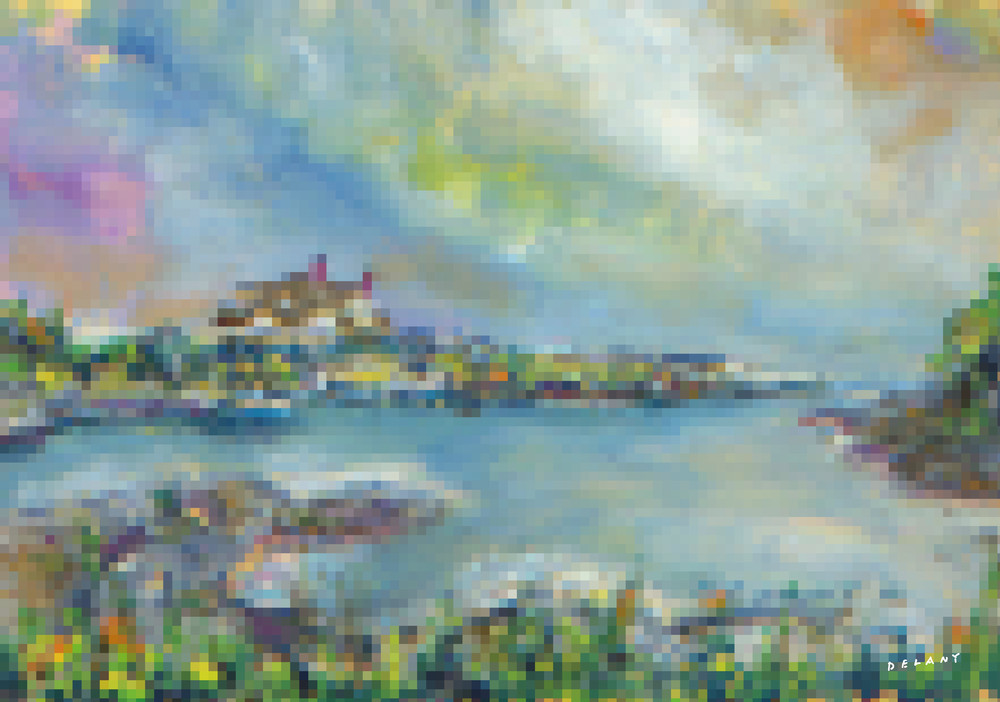 Ocean Drive #2 Pixel Print