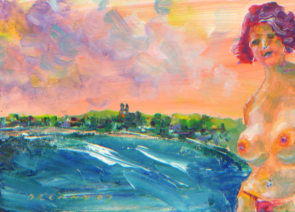 After Swim First Beach Art Print