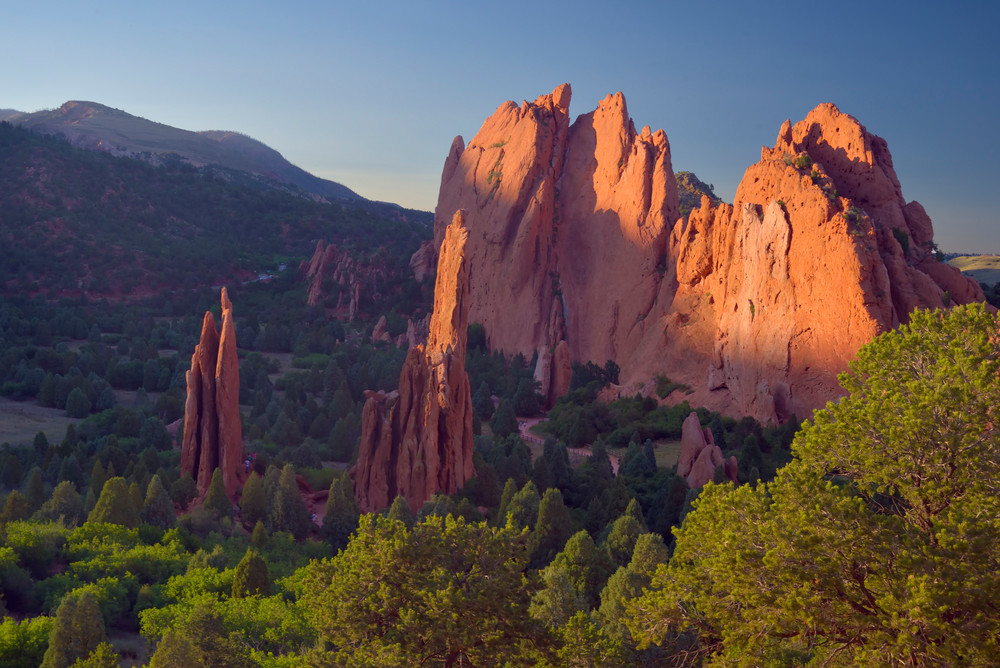 Golden Hour in the Garden of the Gods