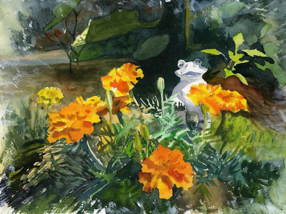 New England Marigold Garden Print