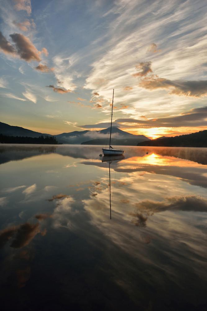 Summer Sunrise on Lake Placid