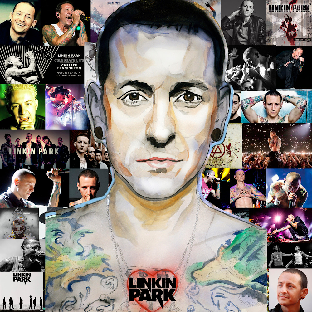Chester Bennington Linkin Park Wall Art Canvas Print Picture