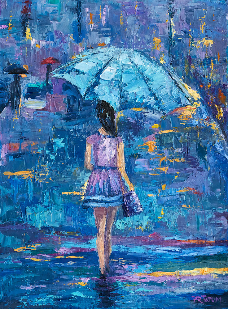 Umbrella Girl Print to add fun and color to your home