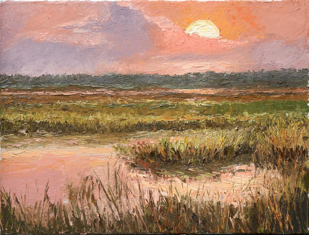 Sunset On The Marsh Art | Pamela Ramey Tatum Fine Art