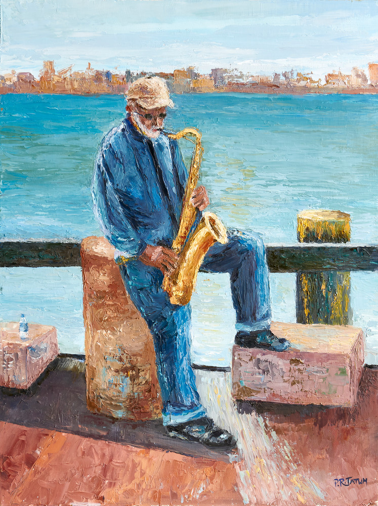 Savannah Saxophone Player on River Street