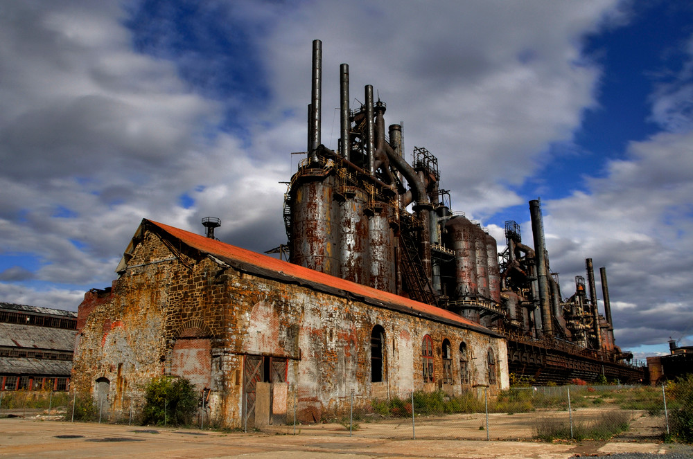 Steel Stacks - color - Michael Sandy Photography