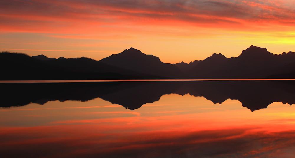 Sunrise at Lake McDonald-Glacier National Park