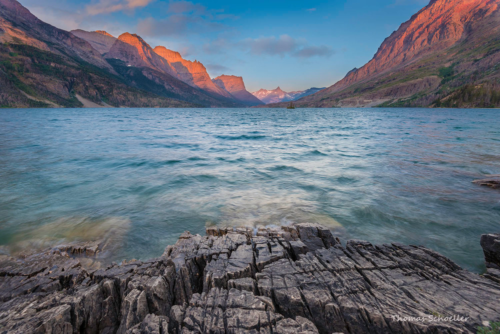 Glacier National Park/St Mary Lake/Wild Goose Island sunrise fine art photography prints