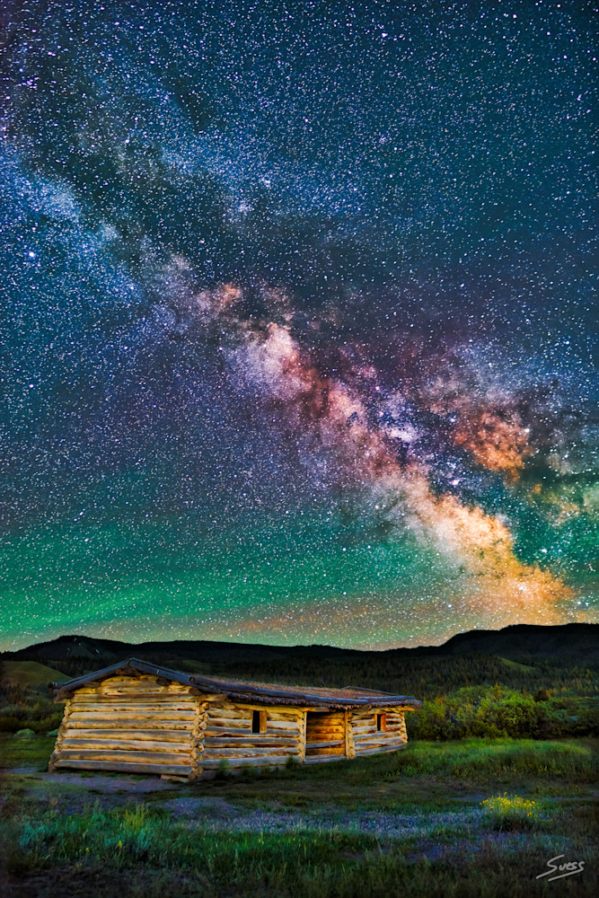 Cunningham Cabin Milky Way - Grand Teton National Park