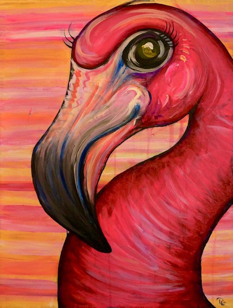 Funky Flamingo Art | Art by Trev: Trevor Griffin Fine Art