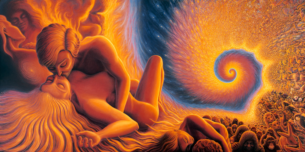 Spiral Genesis cutom print from the original oil painting by Mark Henson