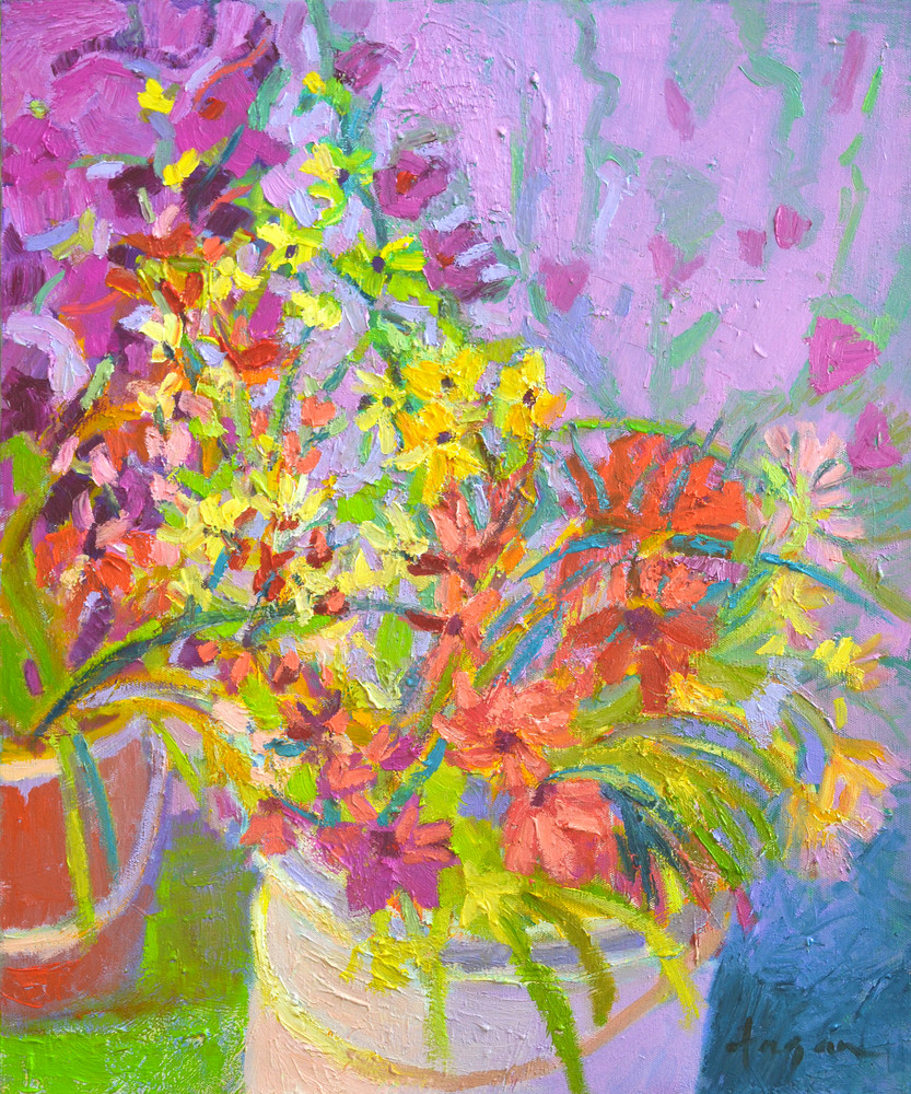 Meaning of Wildflowers Fine Art Print Painting by Dorothy Fagan Joy's Garden