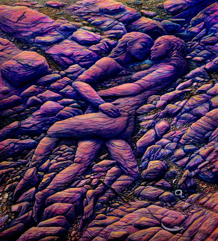 Desert Life custom print from the original painting by Mark Henson