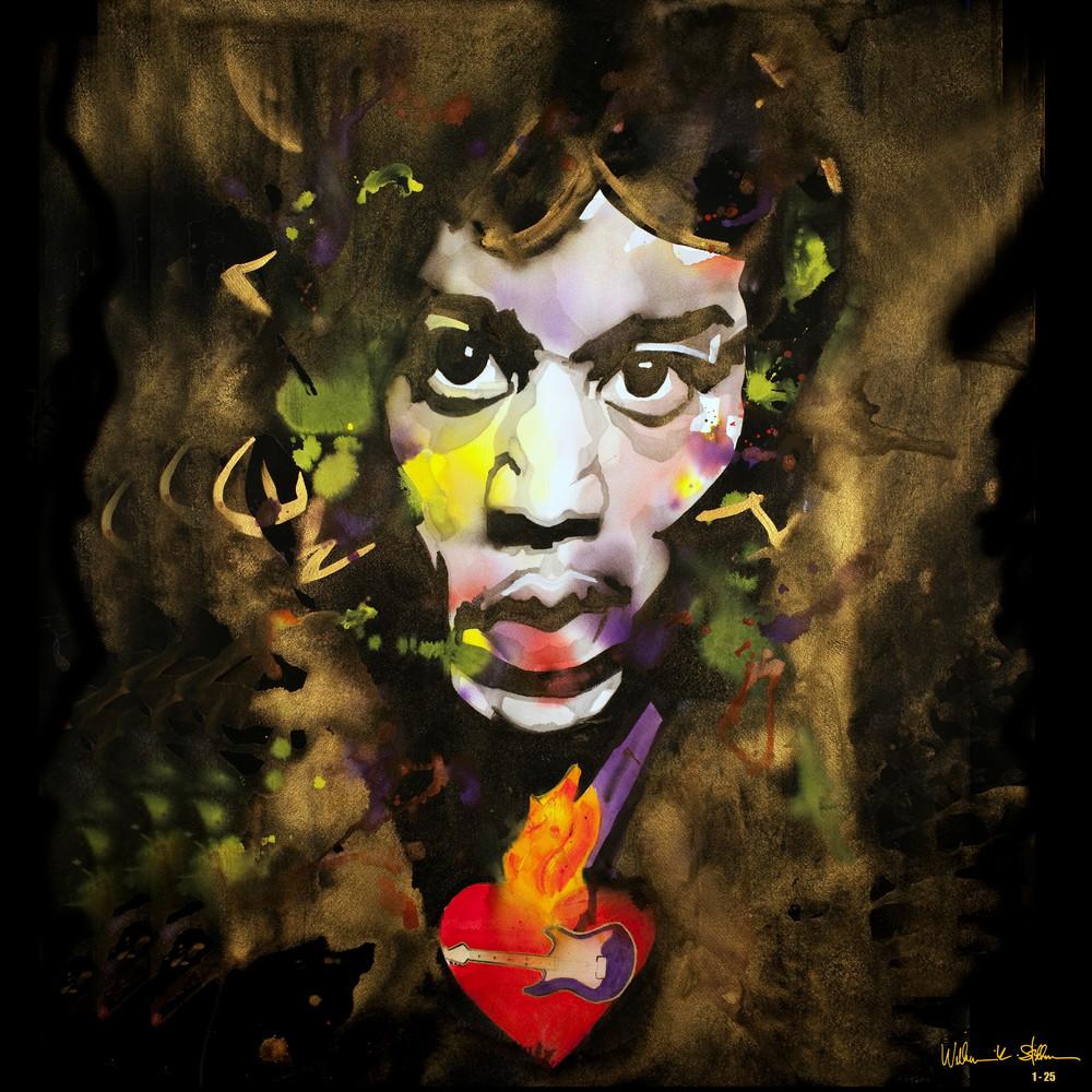 Hendrix 24 X 24 Art | William K. Stidham - heART Art