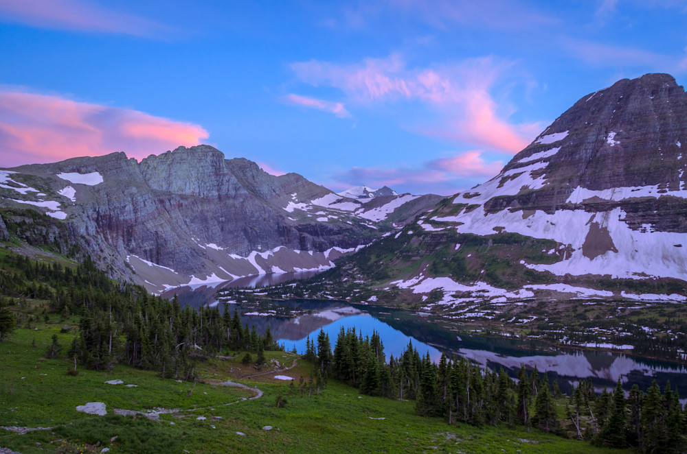 Hidden Lake at Sunset