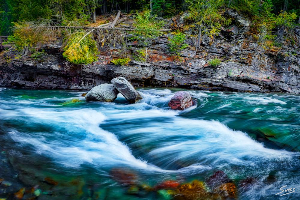 Avalanche Creek Rapids - Glacier National Park, Montana