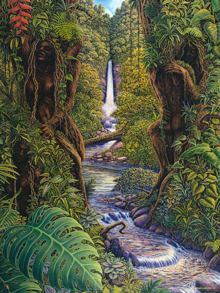 Sylvan Serenity custom print from the original painting by Mark Henson