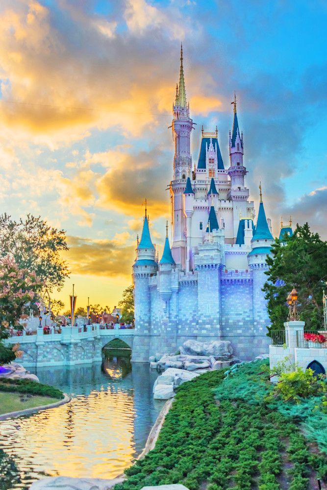Castle Sunset - Disney Prints for Sale   William Drew