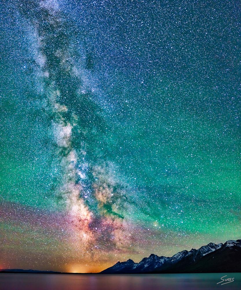 Milky Way over Jackson Lake - Grand Teton National Park