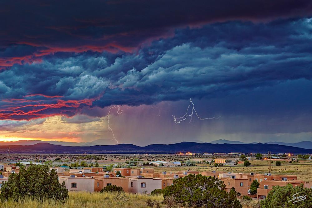 Thunderstorm Over Santa Fe - New Mexico