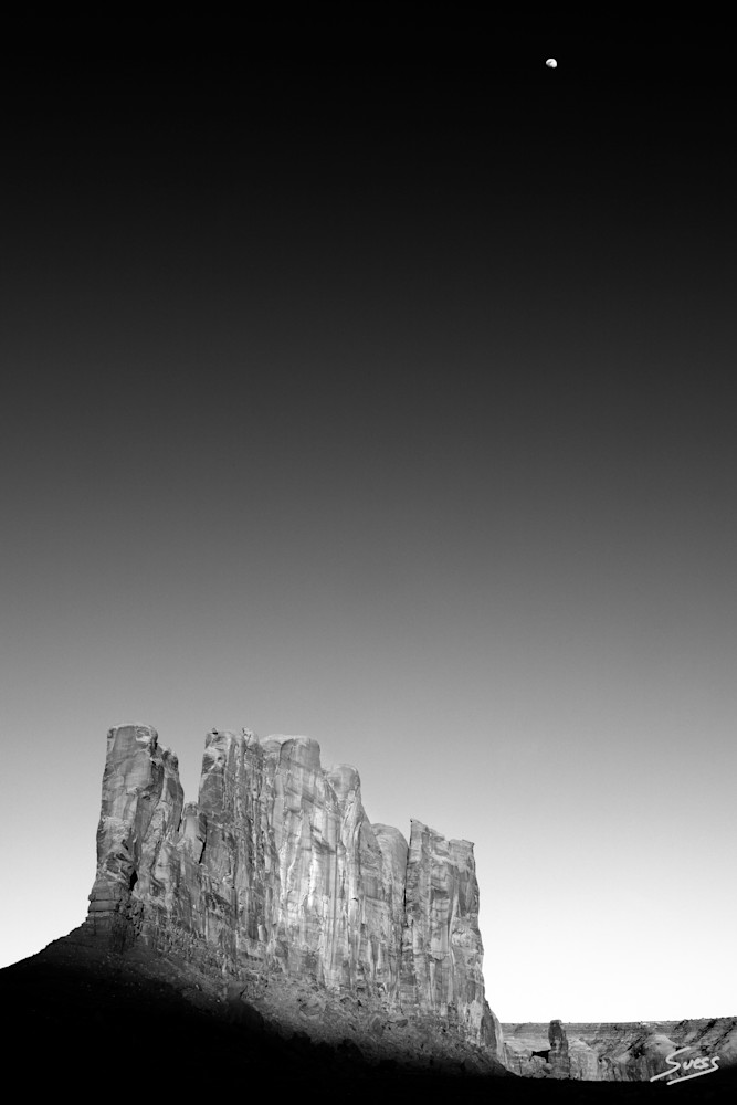 Moon Over Camel Butte - Monument Valley