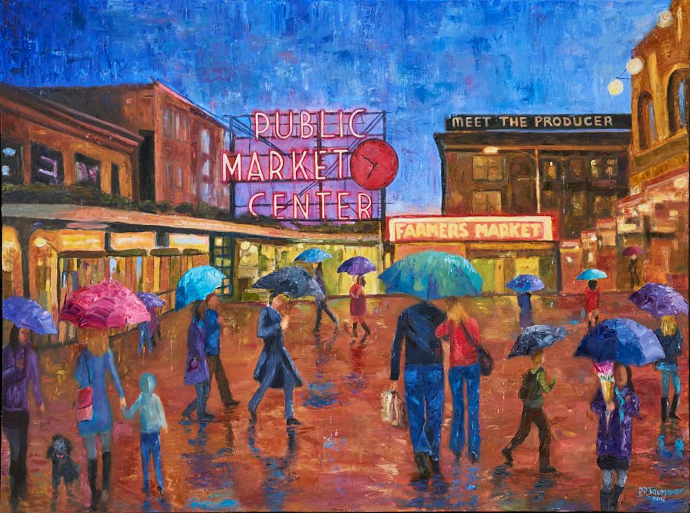 seattle, pikes-place-market, umbrella-art