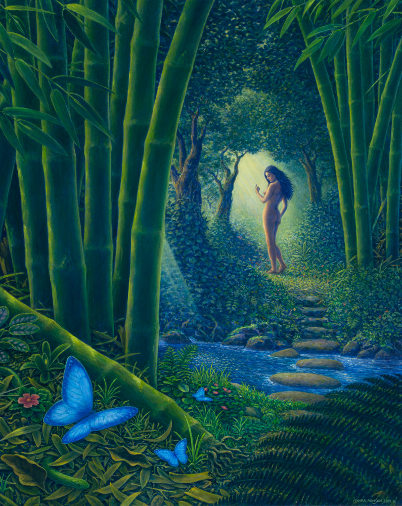 Bamboo Forest custom print from the original oil painting by Mark Henson