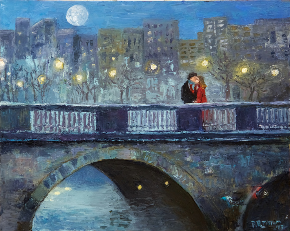 lovers, kiss, bridge