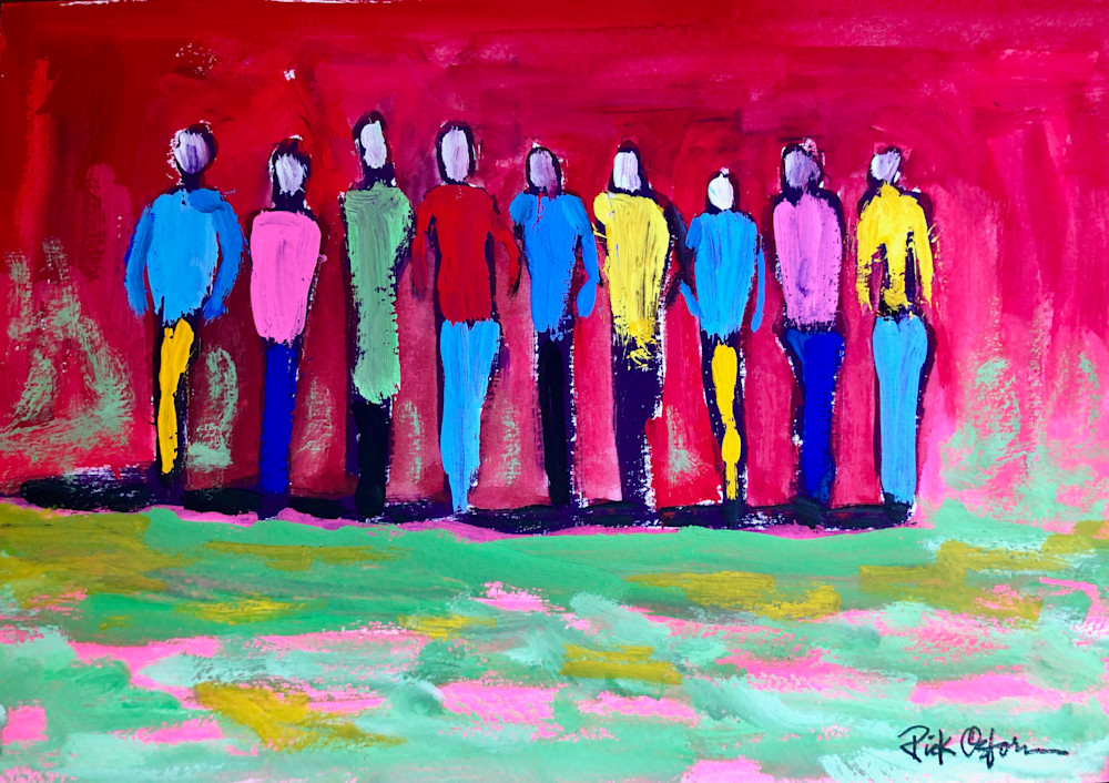 Colorful People | Fine Art Painting Print by Rick Osborn