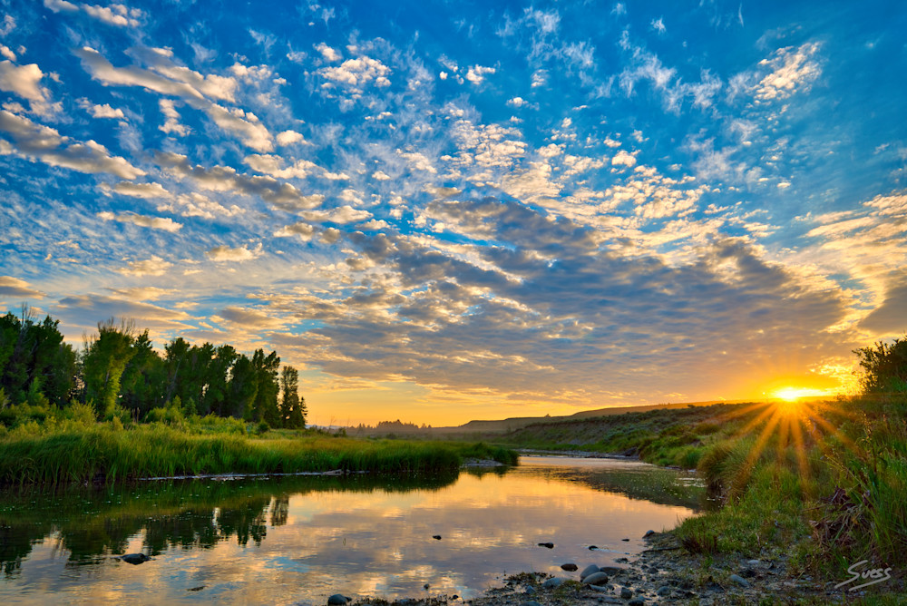 Warm Start to the Morning along Snake River - Grand Tetons