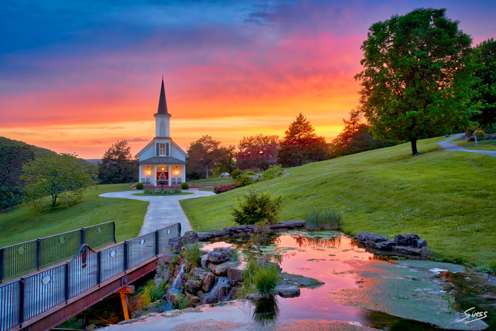 Epic Sunset at The Garden Chapel #1 - Big Cedar Lodge