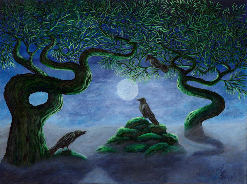 Midnight Green Art   Northwest Image
