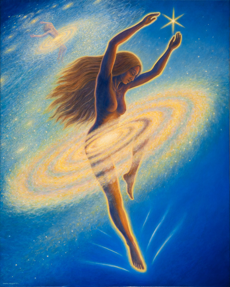Dancing Across the Universe custom print from the original painting by Mark Henson