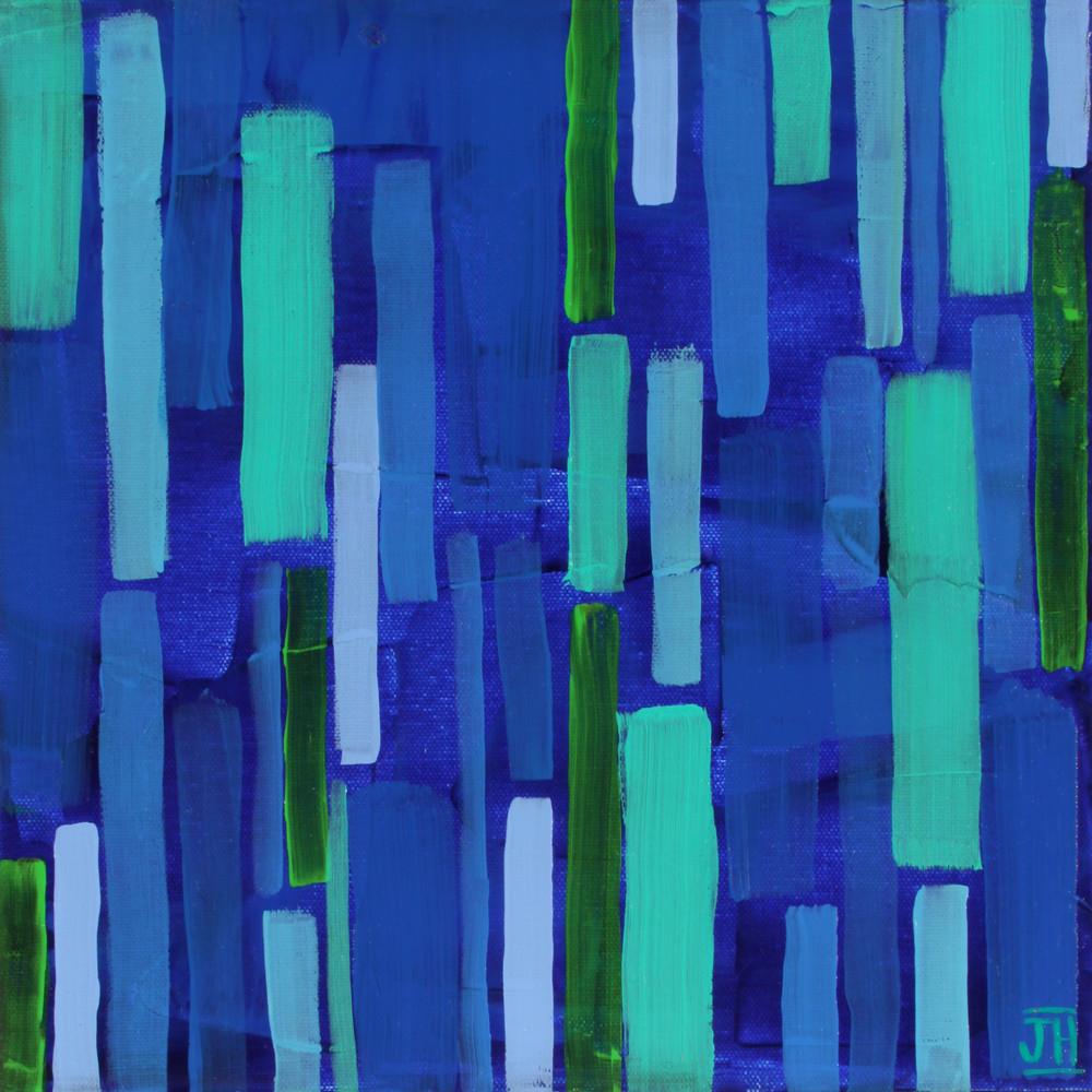 Blue Rain, by artist Jenny Hahn.