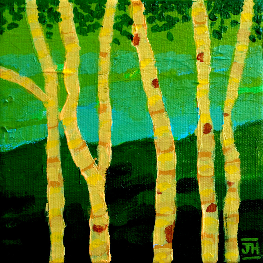 Aspen Grove, by artist Jenny Hahn
