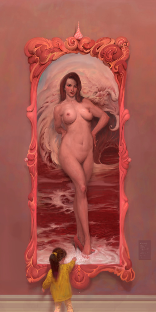 prints of burton gray's meat venus painting