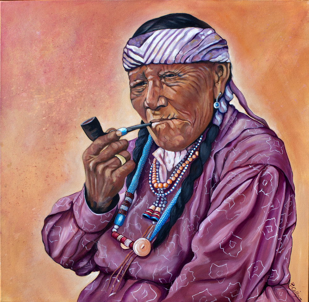 Nakado Woman Smoking  a Pipe