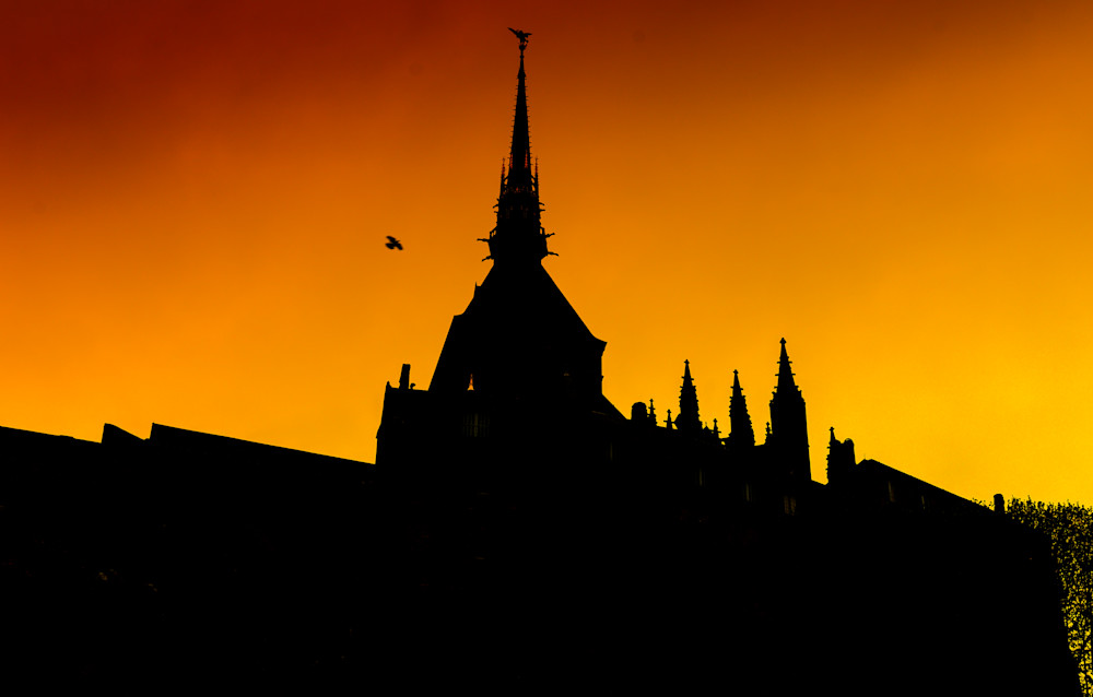 Mont St. Michel At Sunset | Travel Photography Print
