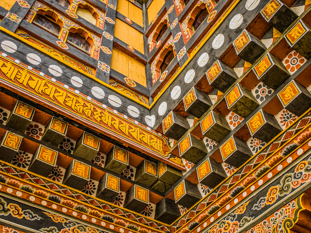 Bhutan Architectural Detail | Architecture Photography Print
