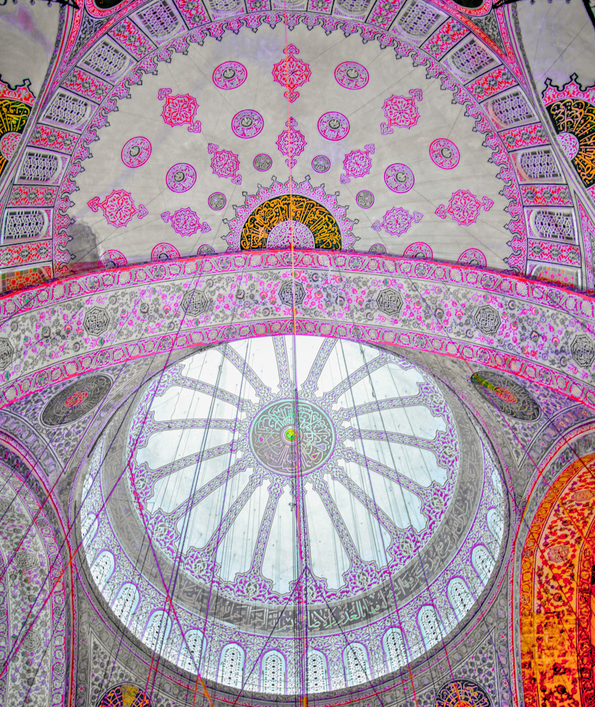 Istanbul Mosque Ceiling II   Travel Art Photography Print