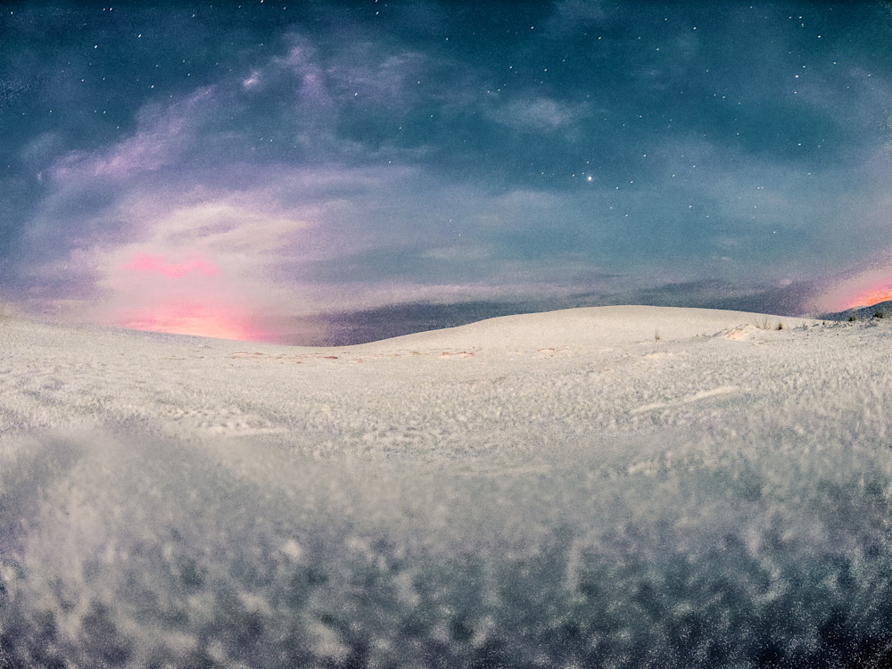 White Sands Glow Under A Full Moon | Full Moon Photography Print