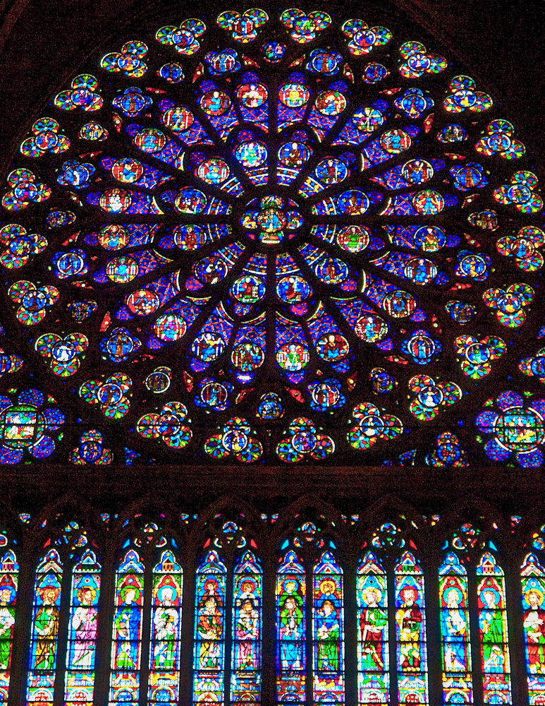 Notre Dame Stained Glass Window | Travel Photography Print