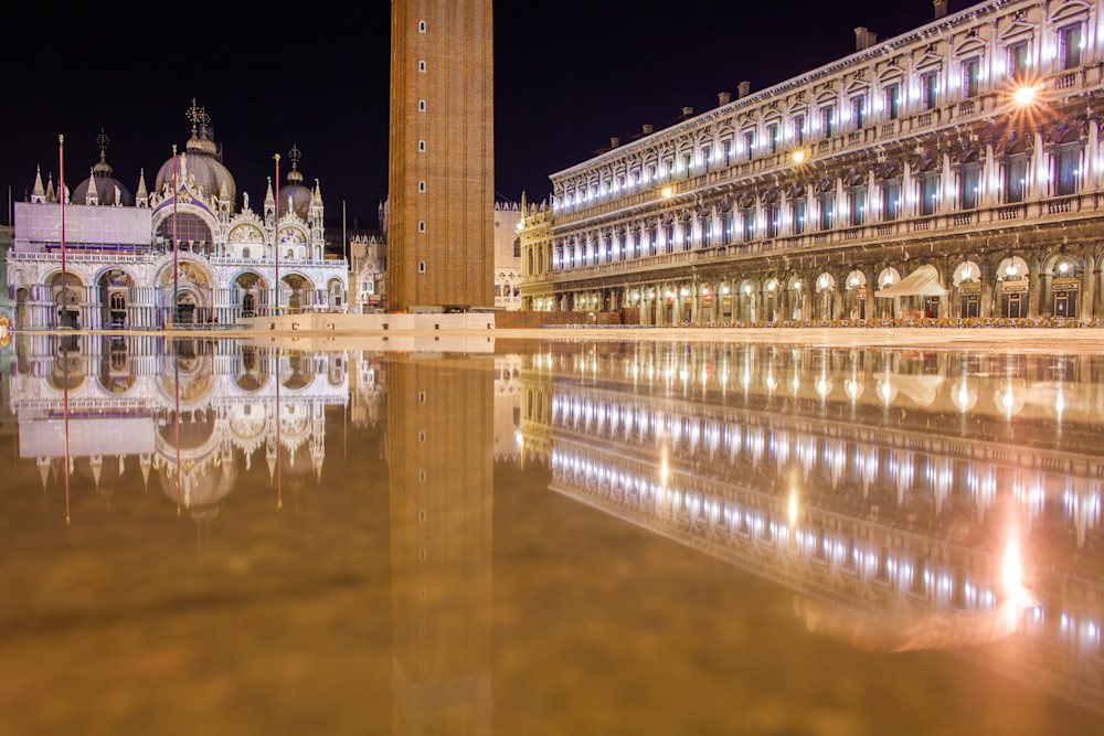 Venice St Marks Square Reflection | Travel Photography Print